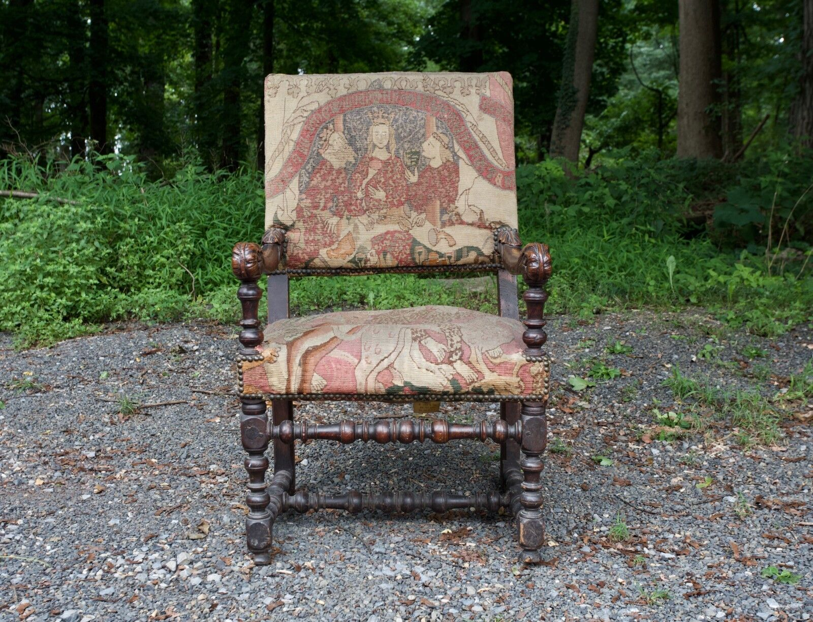 Antique Continental Early 18thLate 17th Century Armchair