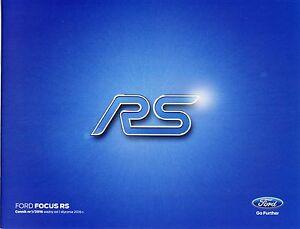 Ford Focus RS 01 / 2016 catalogue brochure 350 ch 350 hp 4x4 - <span itemprop='availableAtOrFrom'> Varsovie, Polska</span> - Ford Focus RS 01 / 2016 catalogue brochure 350 ch 350 hp 4x4 -  Varsovie, Polska