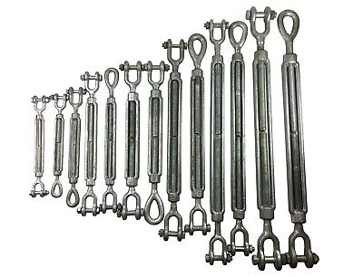 Turnbuckles Drop Forged Hot Dipped Galvanized Steel Turnbuckle Eye Jaw Hook