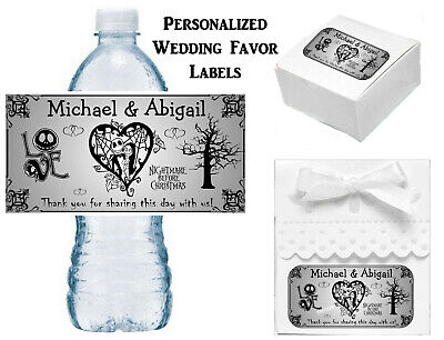 Jack And Sally Wedding (NIGHTMARE BEFORE CHRISTMAS WEDDING FAVORS LABELS FOR YOUR FAVORS JACK AND)