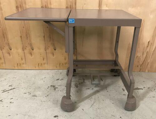 Vintage Tiffany Stand Metal Steampunk Typewriter Table, Drop Leaf Industrial