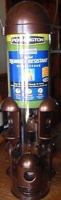 Pennington Premium Squirrel-Resistant Metal Bird Feeder-3 Lbs Seed Capacity-NEW