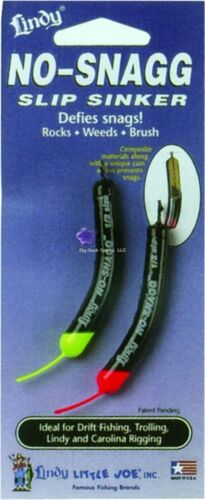 Lindy No-Snagg Slip Sinker 1//8 oz New - 6 pk