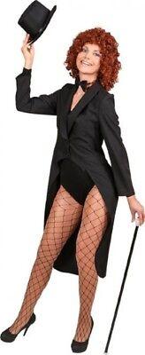 Ladies Black Showman Magician Jacket TV Book Film Fancy Dress Costume - Lady Magician Costume