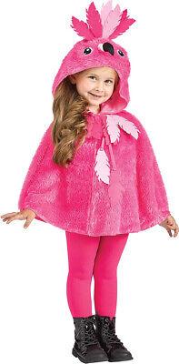 Mädchen Kleinkind Kinder Weiches Plüsch Kapuze Cape Flamingo - Flamingo Kostüm Kleinkind