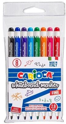 Carioca Whiteboard Marker Markers Pen Multi Different Colors In Pack 8pcs