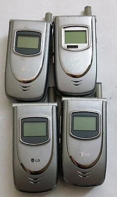 Lot of 4 LG LX5450 Alltel Cell Phones Power Up