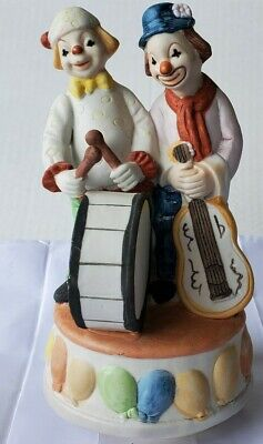"Vintage ""SEND IN THE CLOWNS"" Music Box Porcelain Ceramic 8 1/2"" tall"