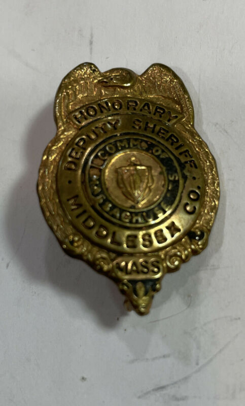Vintage HONORARY DEPUTY SHERIFF MIDDLESEX CO. COMM OF MASSACHUSETTS BADGE
