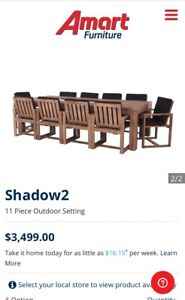 Shadow2  11 piece outdoor table and chair setting