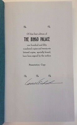 Louise Erdrich The Bingo Palace Signed Inscribed Lord John Press 1994 First 1St