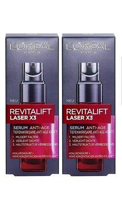 Loreal Anti-falten (Loreal Paris Revitalift Laser X3 Serum Anti Age 2 x 30 ml ))