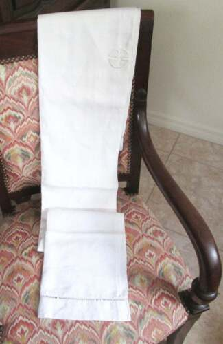 Antique linen,Pillow case,Bolster cover,30s,traversin,heavy linen,Country style,