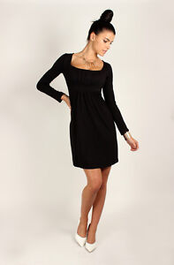 ☼ Divine Women's Mini Dress ☼ Square Neck Tunic Long Sleeve Sizes 8 -18 2914