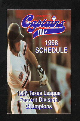 Keith Williams  1998 Shreveport Captains Pocket Schedule  Louisiana Lottery