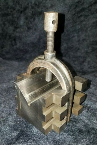 Brown And Sharpe 750-B V Block with Clamp