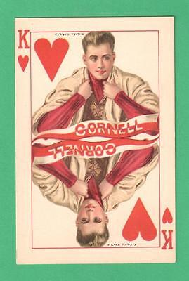 VINTAGE TUCK COLLEGE KINGS F. EARL CHIRSTY POSTCARD CORNELL UNIV. KING OF HEARTS