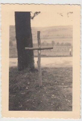 (F28994) Orig. Foto Grab e. gefallenen Marokkaners b. Walsheim 1939