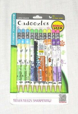 Zebra Cadoozles Mechanical Pencils New Bonus Lead