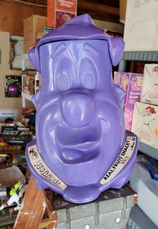 Vintage 1994 FLINTSTONES Fred Flintstone Fruit SNACK Display Super Rare Purple