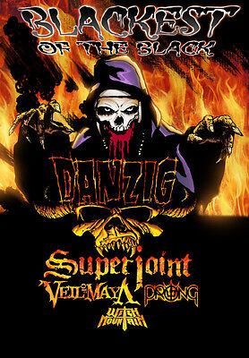 "DANZIG /SUPERJOINT/VEIL OF MAYA ""BLACKEST OF THE BLACK"" 2015 CONCERT TOUR POSTER"