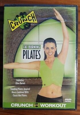 Crunch   Fat Burning Pilates  Dvd  2003  Nip   Ships Free Usps 1St Class