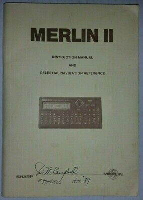 Merlin II Instruction Manual and Celestial Navigation Reference