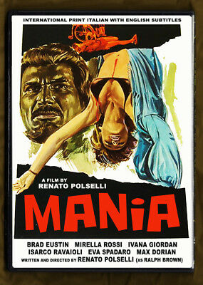 MANIA (1974) Renato Polselli's Lost Film with English subs UNCUT/ DVD NTSC NEW