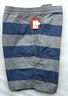 08be39ad68 MOSSIMO SUPPLY CO Blue & Gray Striped Board Swim Shorts Swimwear Mens XL NEW