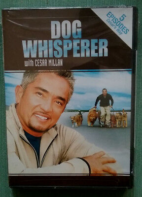 Dog Whisperer with Cesar Millan DVD, 5 Episodes, 2004, New, Sealed, Free Shpg