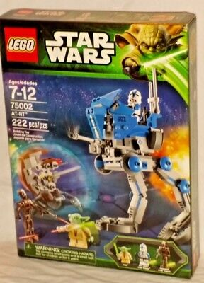 Sealed 75002 Lego Star Wars At Rt Walker Yoda 501St Clone Trooper 222 Pc Retired