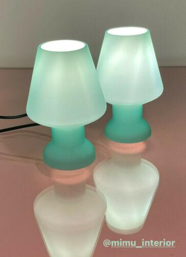 💚Lovely green mushroom lamp by DE MAJO Murano glass lampada fungo vintage 80s💚