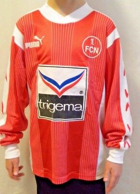 Puma Soccer/ Football Red and White  Nurnberg Long Sleeve Jersey 1994 Size XXS   image