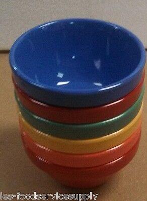 Lot of 5 BOUILLON BOWL CUP 8 OZ HEAVY MELAMINE Soup Vegetable Salsa 5 Colors