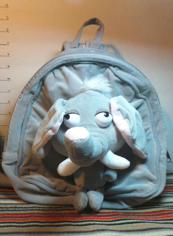 Elephant Backpack, For Child, Plush, By Chosun International Inc., Collectible