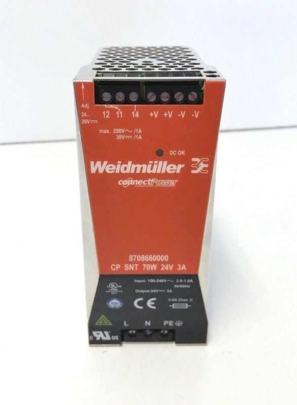 Weidmuller 8708660000 Power Supply 70W 24V 3A