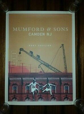 MUMFORD & SONS 2017 CAMDEN NJ Show Poster Tour Print May 25 PHILADELPHIA Philly