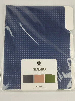 Hanging File Folders U Brand 6 Count Multi Color Letter Size New