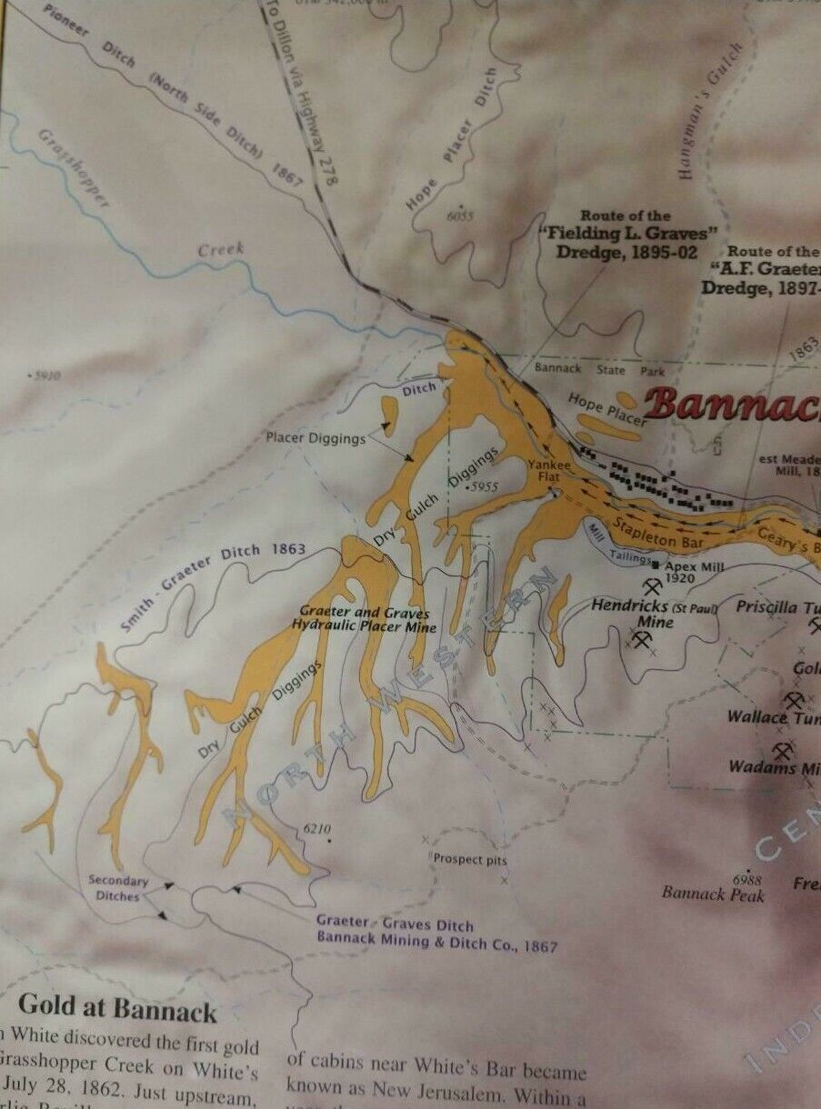 Gold Mine HISTORIC BANNACK MONTANA GRUB STAKE 21 MMC 237943 GOLD Mine Claim  - $810.00