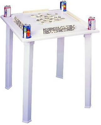 Domino Table Game Table with Built In Tile Racks and Cup Holders