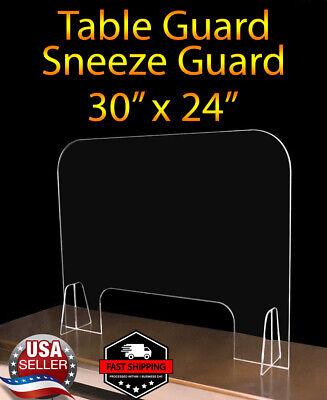 Sneeze Guard Protective Shield Table Acrylic Plexiglass Store Office Salon