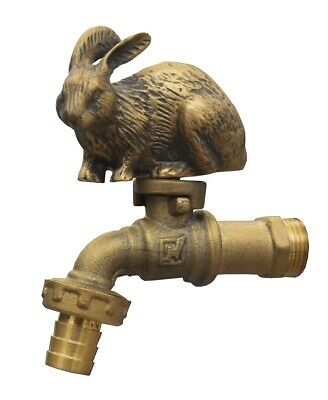 Brass Garden Rabbit Spigot Tap Faucet Vintage Water Home Decor Living Outdoor