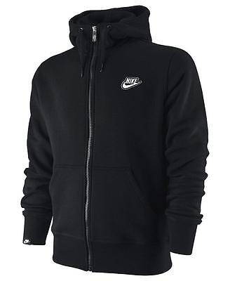 Nike Men's Fleece Full Zip Hooded Hoodie Hoody Sweatshirt Tracksuit Top BLK 1813