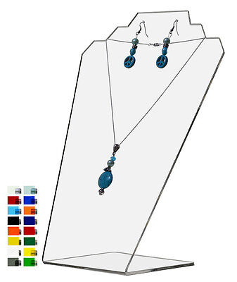 Slantback Necklace Holder Display Jewelry Stand Acrylic