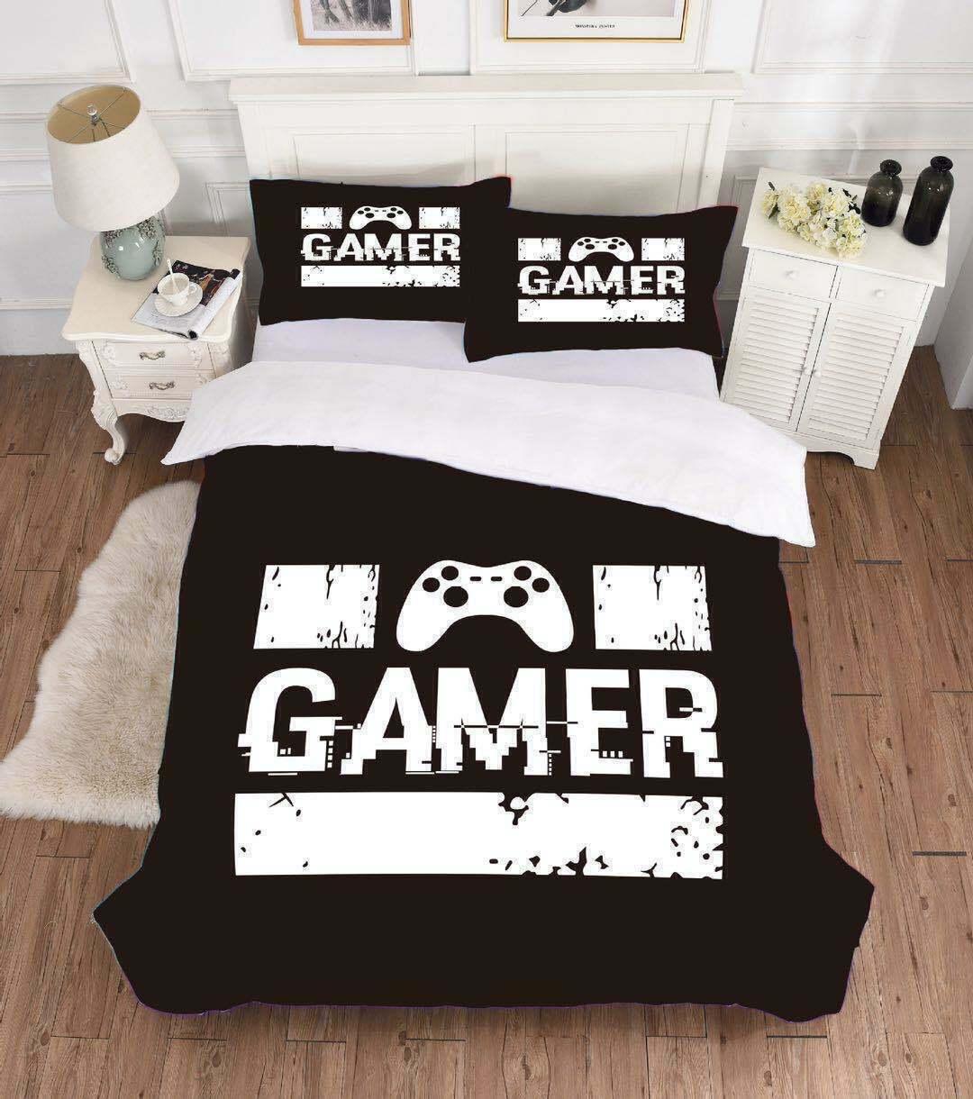 3d Gamer Duvet Quilt Cover Double Video Games Bedding Comforter Cover Pillowcase Ebay