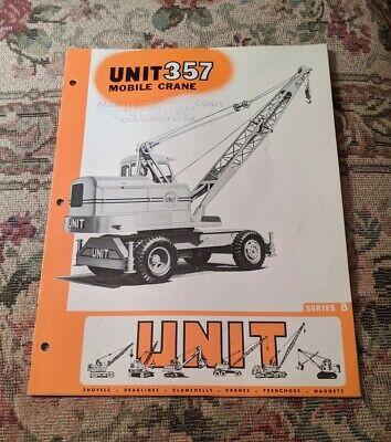 1950s Mobile Crane Unit 357 Sales Manual Vintage