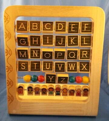 B. by Battat AB3's Wooden Alphabet Counter Abacus Learning Toy 13.5""