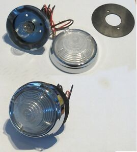 2-x-L539-Round-Clear-Finned-Reversing-lights-for-Citroen-DS19-1956-60-53378A