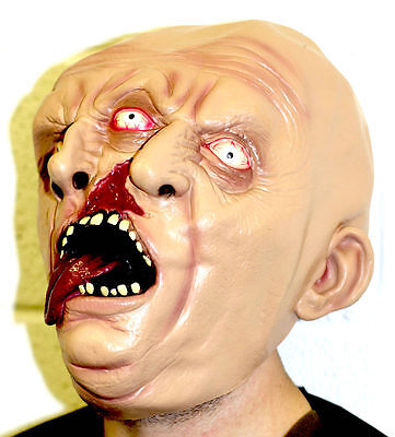 Two Faced Halloween (Two Face Faced Latex Mask Halloween Demon Zombie Ghoul Horror Siamese)