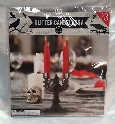 Halloween Glitter Candelabra Wood Table Top Centerpiece Decor for Tapered - Halloween Centerpieces For Tables
